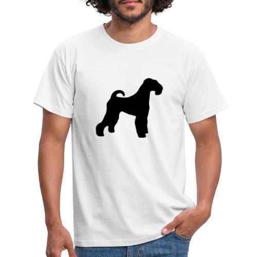 BLACK Airedale Terrier - Men's T-Shirt
