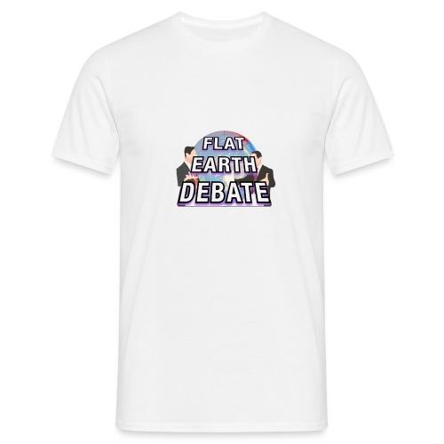 Flat Earth Debate - Men's T-Shirt