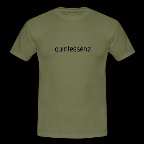 quintessenz black - Männer T-Shirt