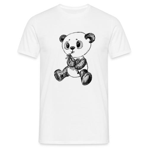 Panda Karhu musta scribblesirii - Miesten t-paita