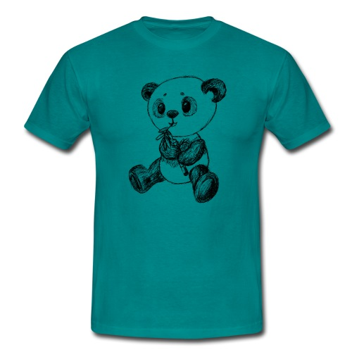 Panda bjørn sort scribblesirii - Herre-T-shirt
