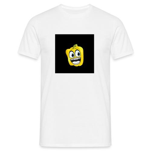 9297497-yellow-pepper-vec - Men's T-Shirt
