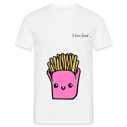 I love food... POMMES - Männer T-Shirt