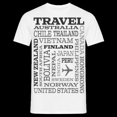 Travel Places Gray design - Miesten t-paita