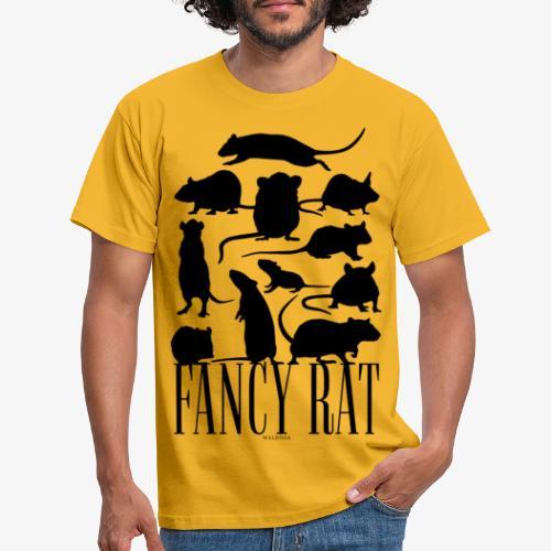 Fancy Rat Black - Miesten t-paita
