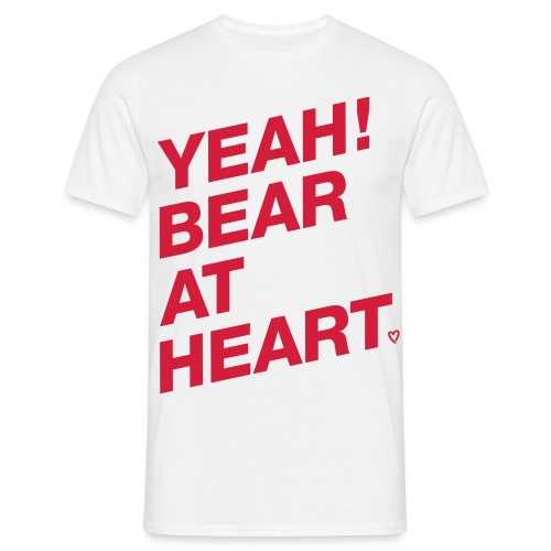 Yeah Bear at Heart - Männer T-Shirt