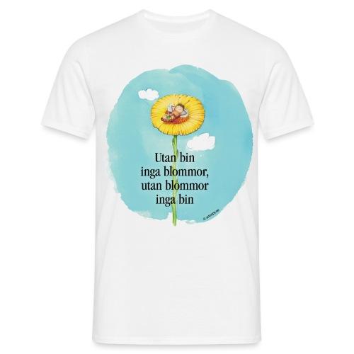 Bi i blomma - T-shirt herr