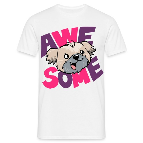 awesome dog - Men's T-Shirt