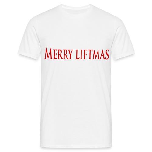 Merry liftmas - T-shirt herr