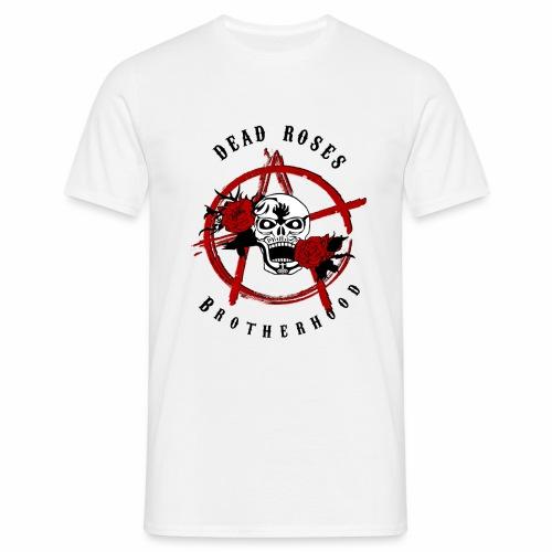 Dead Roses Anarchy Skull Black - Men's T-Shirt