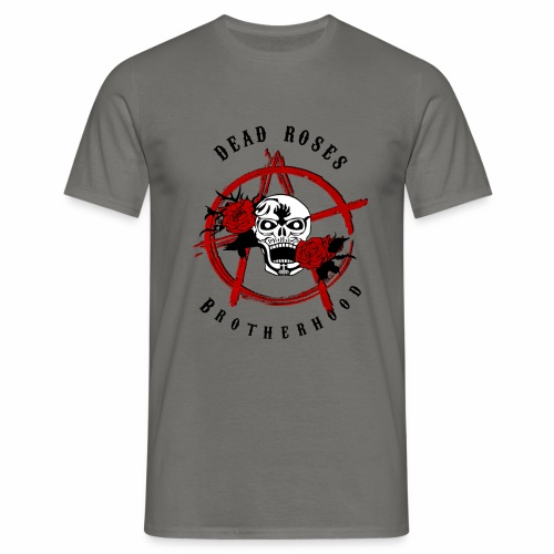 Dead Roses Anarchy Skull Black - Men's T-Shirt