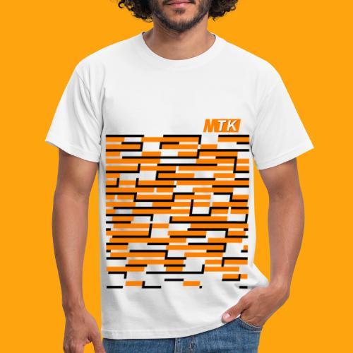Orange Cubes - Männer T-Shirt