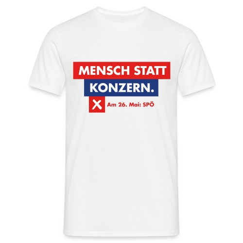 Mensch statt Konzern - Männer T-Shirt