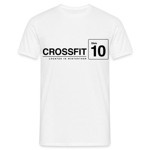CrossFit_Gleis_10_Logo_1_Black - Männer T-Shirt