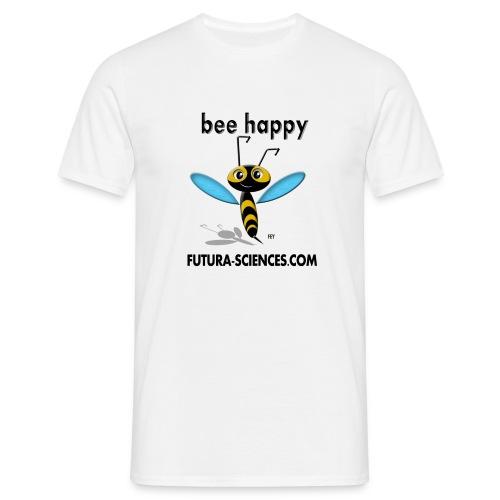 bee happy bon dpi black - T-shirt Homme