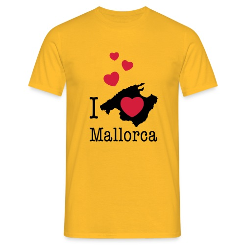 love Mallorca Balearen Spanien Ferieninsel Urlaub - Men's T-Shirt
