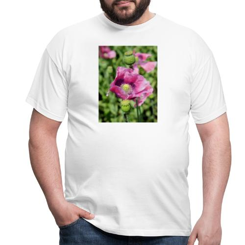 Mohnblüte - Männer T-Shirt