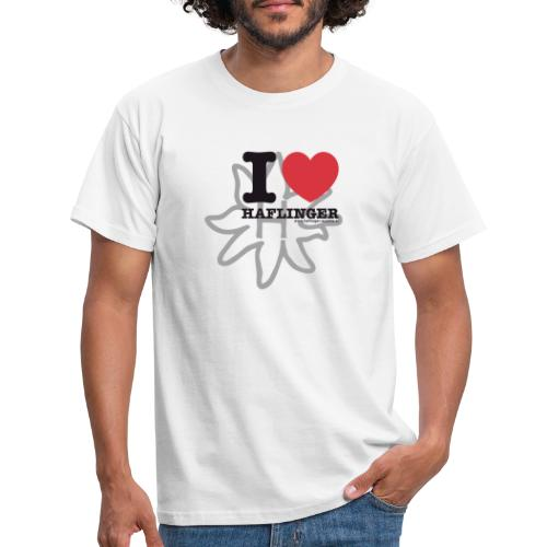 I love Haflinger - Männer T-Shirt