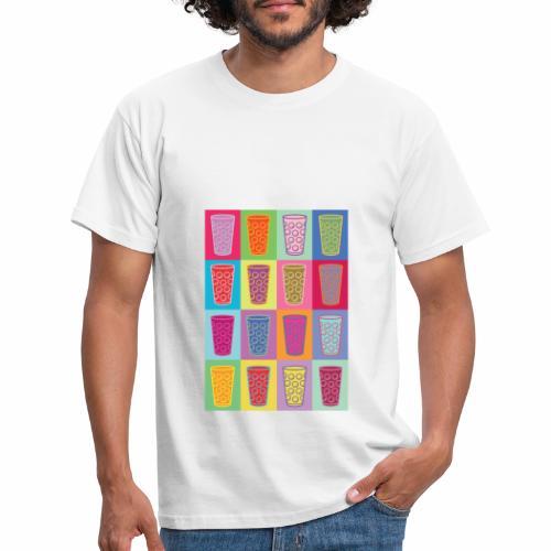 Farbige Dubbegläser - Männer T-Shirt