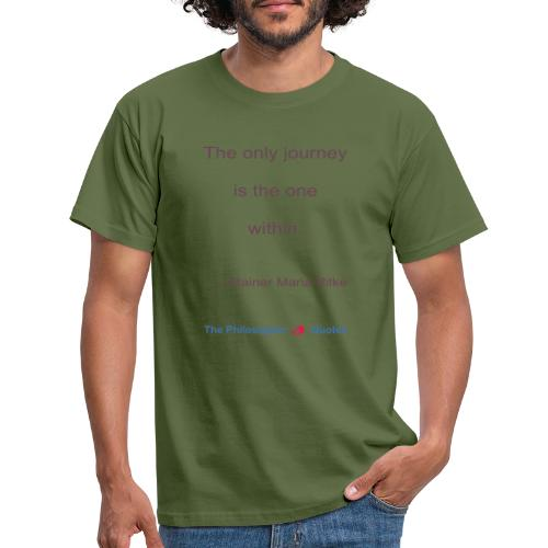Rainer Maria Rilke The journey within Philosopher - Mannen T-shirt