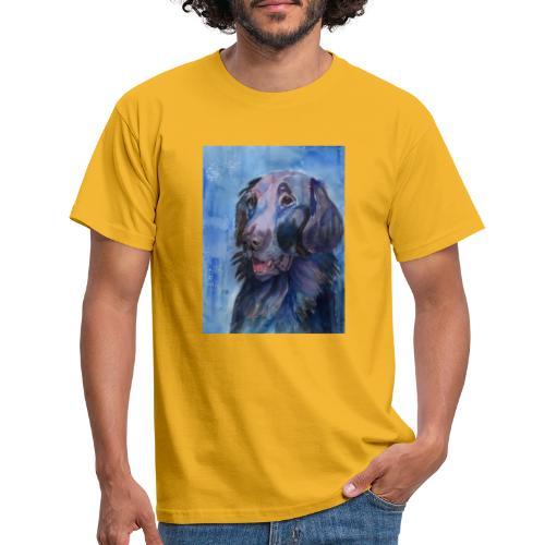 flatcoated retriever - watercolor - Herre-T-shirt