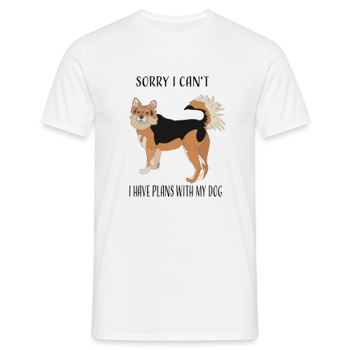 Sorry I can't! I have plans with my dog - Männer T-Shirt