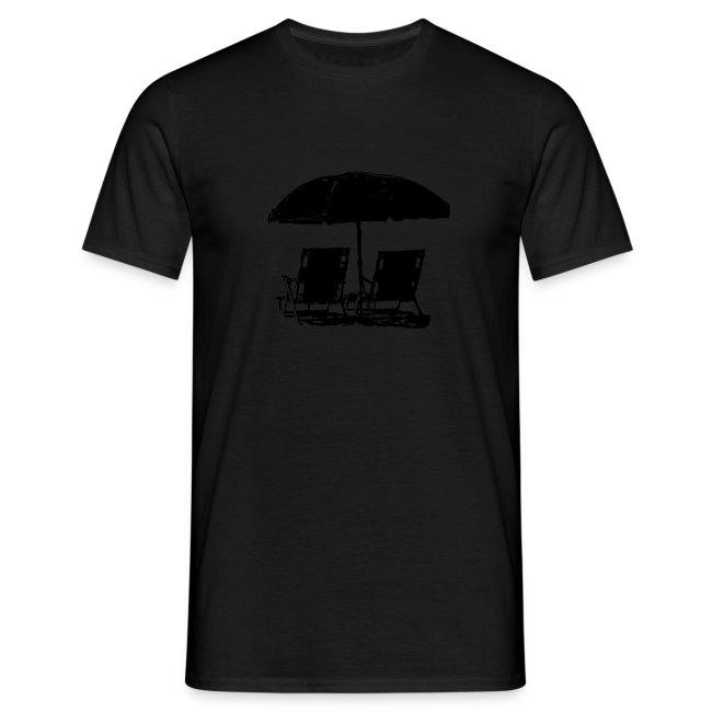 Ombrellone con 2 sdraio sulla spiaggia - Umbrella
