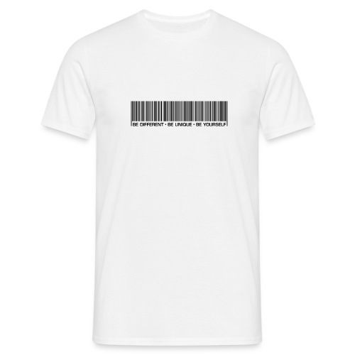 be different be unique be yourself black - Men's T-Shirt