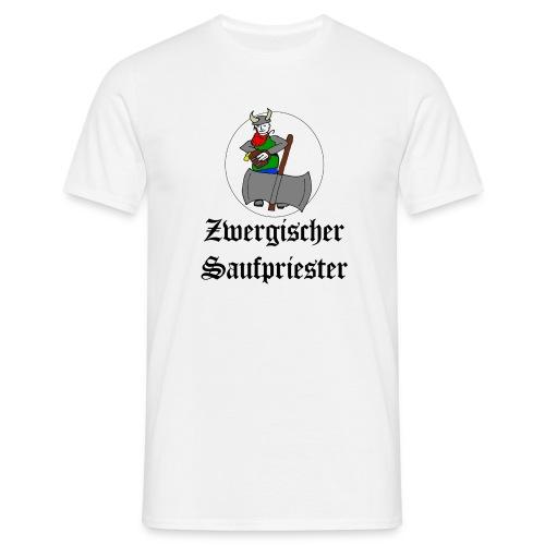 Zwergischer Saufpriester - Männer T-Shirt