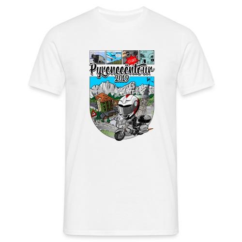 fjr pyreneeen tour 2019 alleen VOOR - Mannen T-shirt