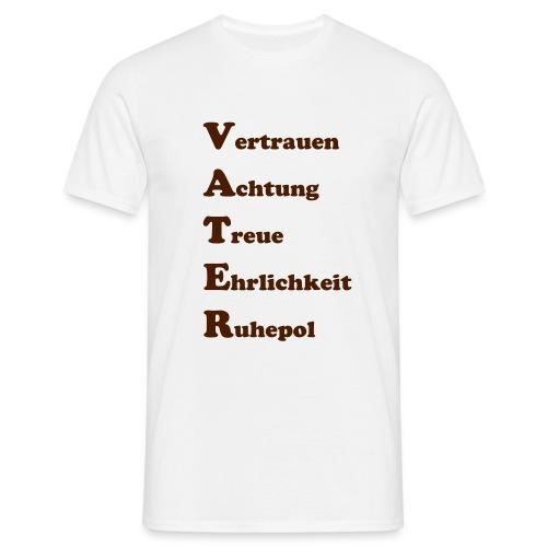 vertrauen achtung - Männer T-Shirt