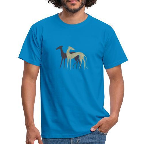 Zwei Windhunde - Männer T-Shirt
