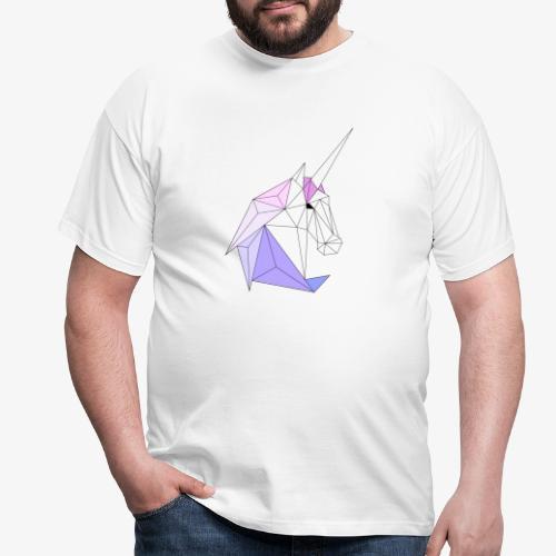 Einhorn geometrie unicorn - Männer T-Shirt