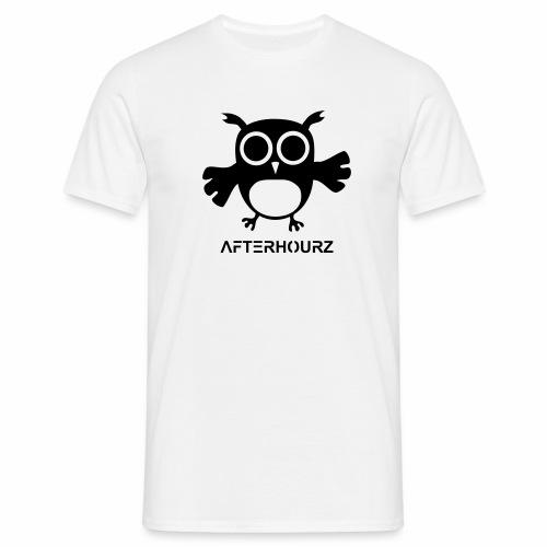 Afterhour Eule große Pupillen Iris Augen Techno - Männer T-Shirt