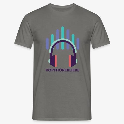 kopfhörerliebe - Männer T-Shirt