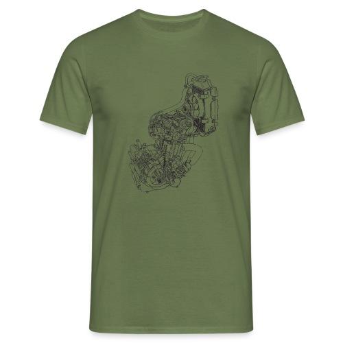 nx250 motorblok transparant - Mannen T-shirt