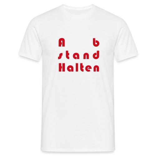Abstandhalten - Männer T-Shirt