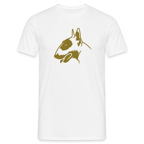 Bullterrier head_4light_1c - Männer T-Shirt