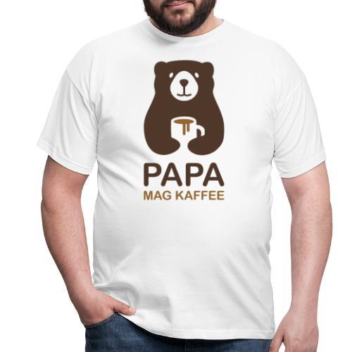 Papa aime le café - T-shirt Homme