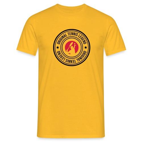 stamp original tennis legend man - T-shirt Homme