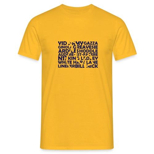 spurs cockerel text - Men's T-Shirt