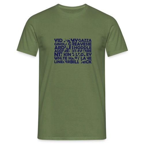 spurs cockerel text - Men's T-Shirt