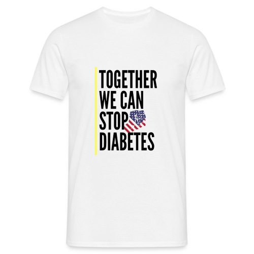 Together We Can Stop Diabetes world diabetes day - T-shirt Homme