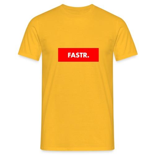 RED BOX TEXT - Mannen T-shirt
