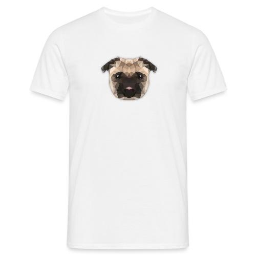 Low Poly mops - Männer T-Shirt