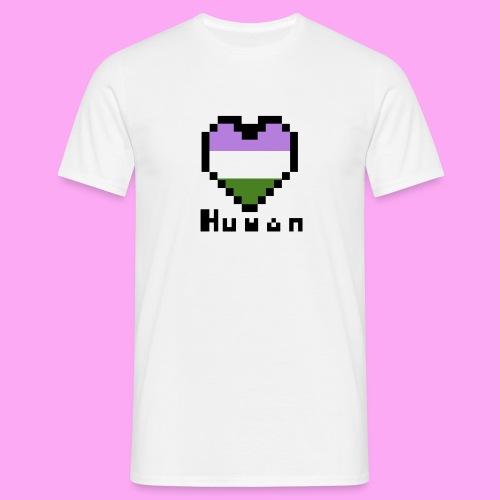 Pride heart genderqueer - Miesten t-paita