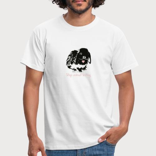 Stop animal testing - Männer T-Shirt