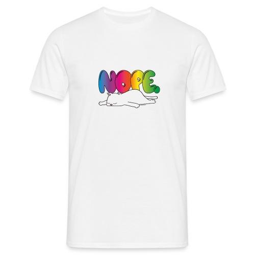 Katzenmotiv Lustig Fun Bunt Regenbogen Spruch NOPE - Männer T-Shirt