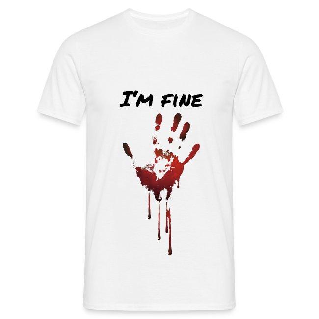 I AM FINE BLUT HAND