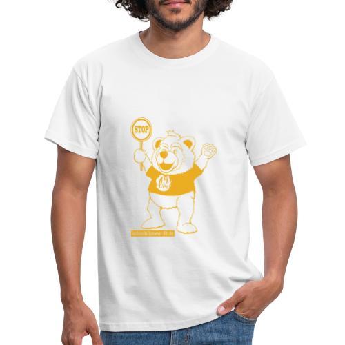 FUPO der Bär. Druckfarbe Orange - Männer T-Shirt